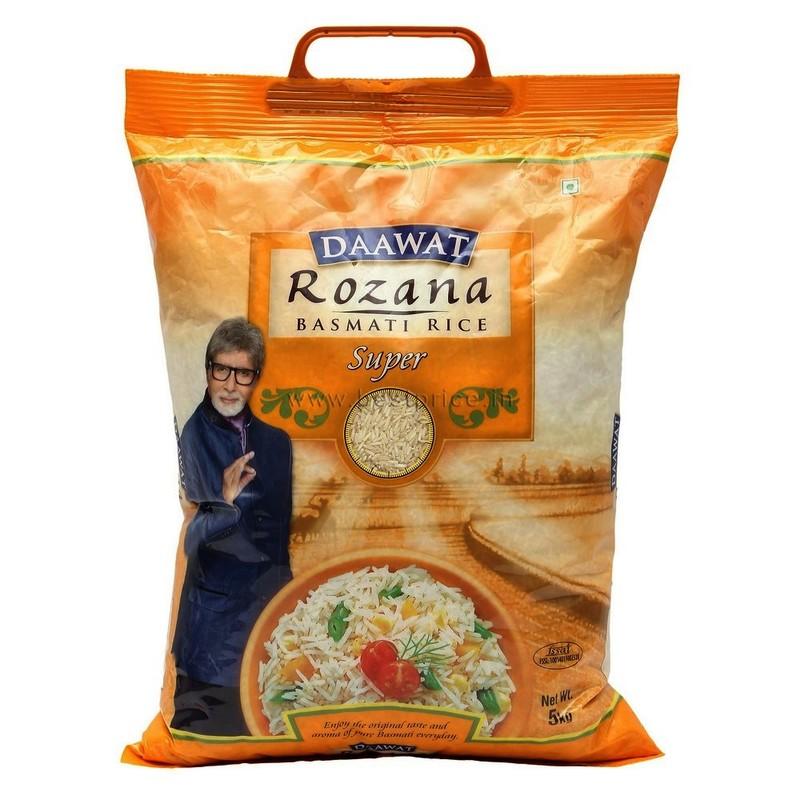 Daawat Rozana Super 90 Tibar Basmati Raw Rice