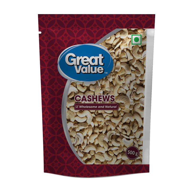 Great Value Cashews 2 Piece