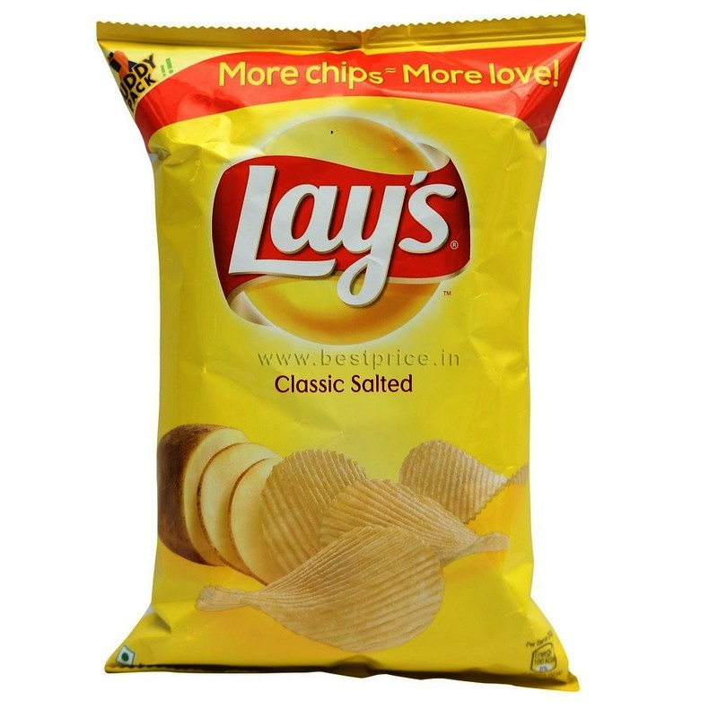 Lays Classic Salted Chips Large, 52 G