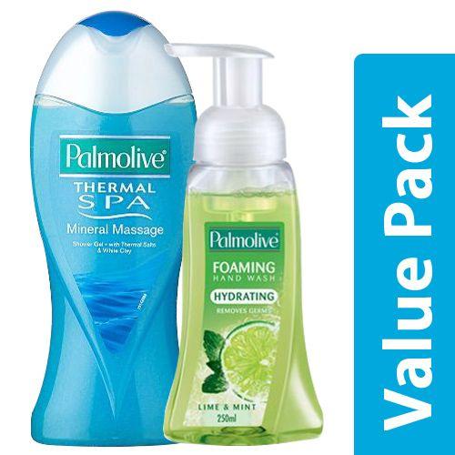 Bodywash-thermal Spa, Salts & White Clay 250ml + Hand Wash Lime & Mint 250ml