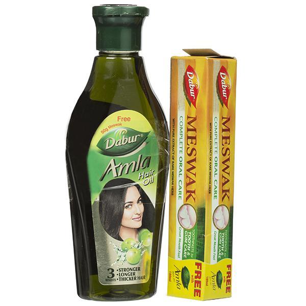 Dabur Amla Hair Oil Free Meswak Toothpaste