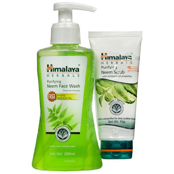 Himalaya Purifying Neem Face Wash Free Neem Scrub