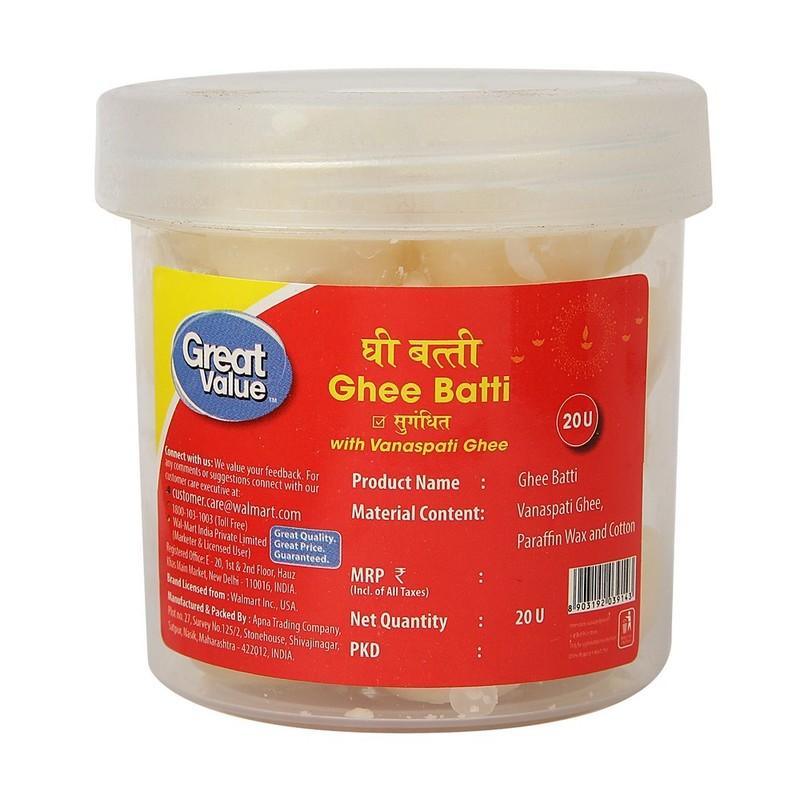Great Value Ghee Batti